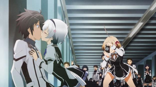 Shizuku_kisses_Ikki_(Rakudai_Kishi_no_Cavalry_Ep_2)